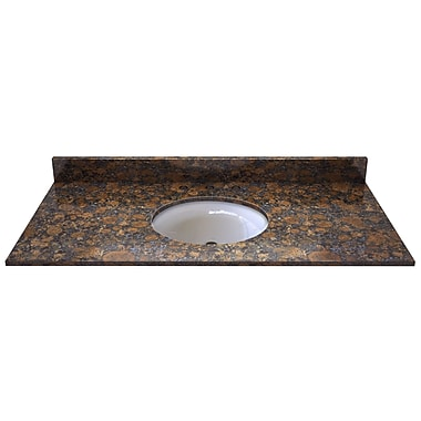 Sagehill Natural Stone 49'' Single Bathroom Vanity Top; Sable Brown
