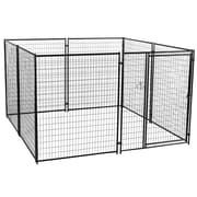 Jewett Cameron Lucky Dog  Welded Wire Yard Kennel; 6' H x 10' W x 10' L