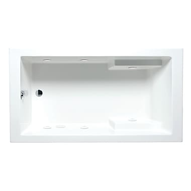 Americh Nadia 66'' x 36'' Drop in Whirlpool Bathtub; White