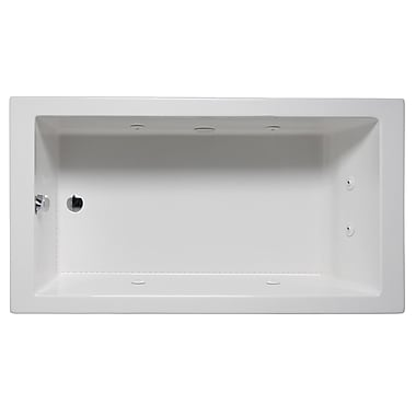 Americh Wright 72'' x 36'' Drop in Whirlpool Bathtub; White