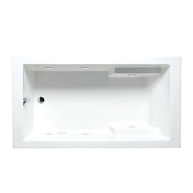 Americh Nadia 60'' x 32'' Drop in Whirlpool Bathtub; White