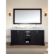 Ariel Bath Westwood 73'' Double Bathroom Vanity Set; Black