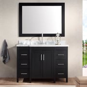 Ariel Bath Hollandale 49'' Single Sink Vanity Set w/ Mirror; Black