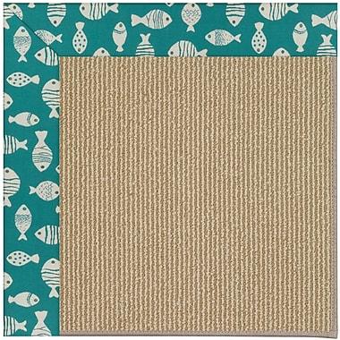 Capel Zoe Machine Tufted Sea Green and Beige Indoor/Outdoor Area Rug; Square 10'