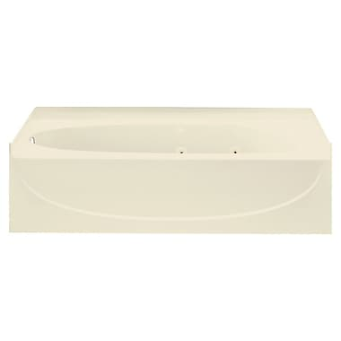 Sterling by Kohler Acclaim 60'' Whirlpool Tub w/ Left Hand Drain; Almond