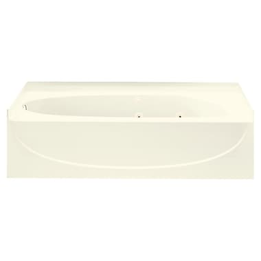 Sterling by Kohler Acclaim 60'' Whirlpool Tub w/ Left Hand Drain; Biscuit