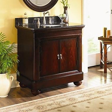 Kaco Mount Vernon 36'' Single Bathroom Vanity Set; Absolute Black