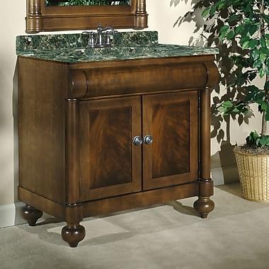 Kaco John Adams 36'' Single Bathroom Vanity Set; Green Granite