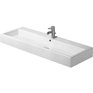 Duravit Vero 47'' Wall Mount Bathroom Sink w/ Overflow; Single Hole