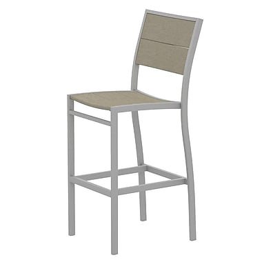 Trex Surf City 46'' Patio Bar Stool; Textured Silver/Sand Castle