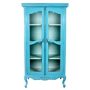 Jeffan Cabriole Legs Display Cabinet; Blue