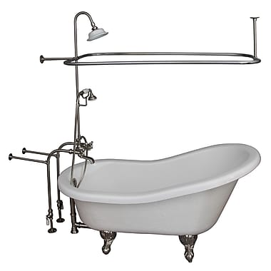 Barclay 67'' x 29.5'' Soaking Bathtub Kit; Brushed Nickel