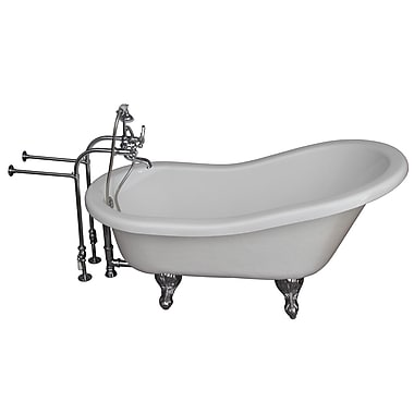 Barclay 67'' x 29.5'' Soaking Bathtub Kit; Chrome