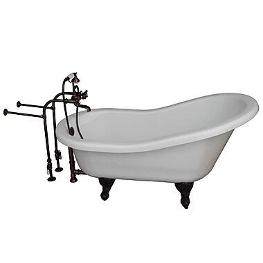 Barclay 67'' x 29.5'' Soaking Bathtub Kit; Oil Rubbed Bronze