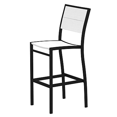 Trex Surf City 46'' Patio Bar Stool; Textured Black/Classic White