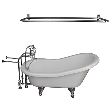 Barclay 60'' x 29.5'' Soaking Bathtub Kit; Chrome
