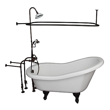 Barclay 60'' x 29.5'' Soaking Bathtub Kit; Oil Rubbed Bronze