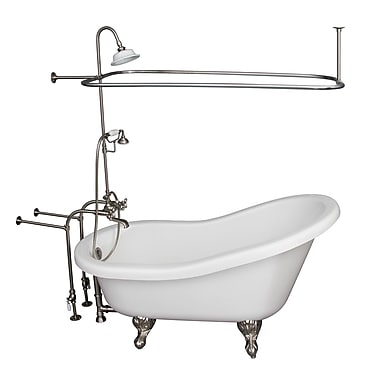 Barclay 60'' x 29.5'' Soaking Bathtub Kit; Brushed Nickel