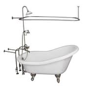 Barclay 60'' x 29.5'' Soaking Bathtub Kit; Brushed Nickel