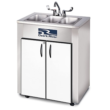 Ozark River Portable Sinks Elite Series 26'' x 18'' Triple LS Hand-Wash Sink