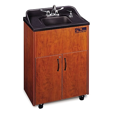 Ozark River Portable Sinks Premier Series 26'' x 18'' Single Hand-Wash Sink; Cherry