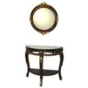 Three Star Console Table and Mirror Set