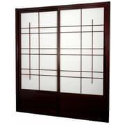 Oriental Furniture 83'' x 73.5'' Eudes Shoji Double Sliding Room Divider; Rosewood