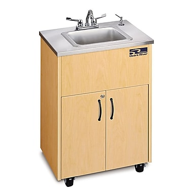 Ozark River Portable Sinks Premier Series 26'' x 18'' Single 1D Hand-Wash Sink; Maple
