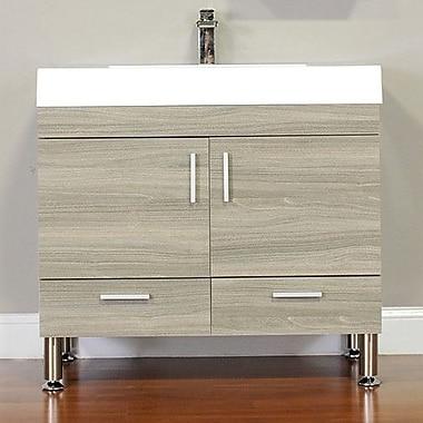 Alya Bath Ripley 36'' Single Modern Bathroom Vanity Set; Gray