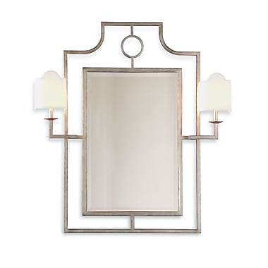 Port 68 Doheny Mirror w/ Sconces; Silver