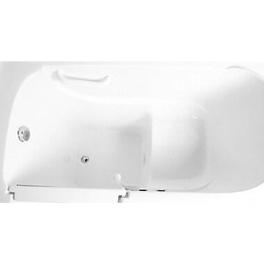 Ariel Bath 48'' x 29'' Whirlpool Walk-In Bathtub; Left