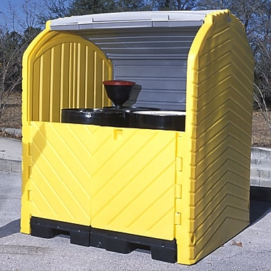 UltraTech International Inc Hard Top and 4 Drum Model 75 Gallon Hazardous Material Receptacle