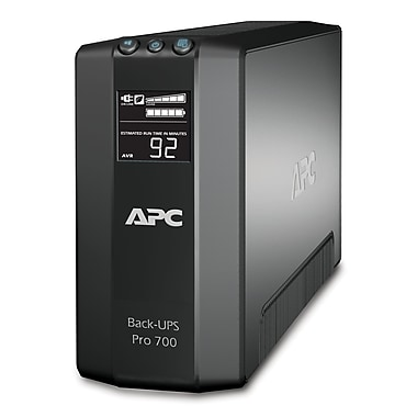 APC – Onduleur parafoudre Back-UPS Pro 700 VA, 6 prises, (BR700G)