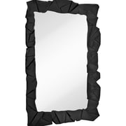 Majestic Mirror Contemporary Framed Wall Mirror; Black