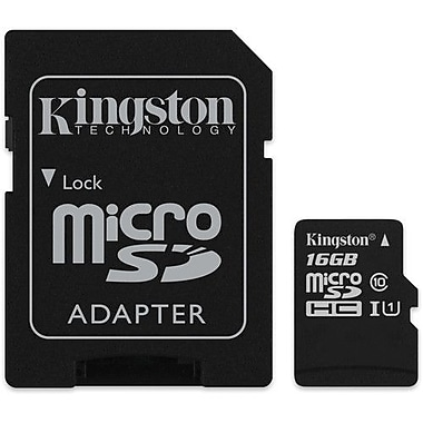 Kingston 16GB MicroSDHC Card With SD Adapter Class 10, (KC-C3016-2V4)