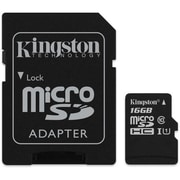 Kingston - Carte MicroSDHC 16 Go avec adaptateur SD classe 10, (KC-C3016-2V4)