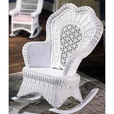 Yesteryear Serpentine Rocking Chair; White