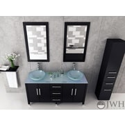 JWH Living Sirius 59 inch Double Bathroom Vanity Set by