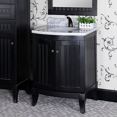 InFurniture 27'' Single Sink WB Series Bathroom Vanity Set; Black