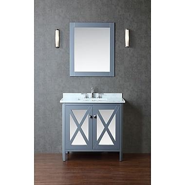 Ariel Bath Summit 36'' Single Bathroom Vanity Set w/ Mirror