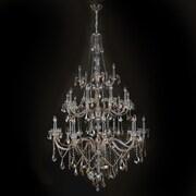 Worldwide Lighting Provence 25-Light Crystal Chandelier; Golden Teak