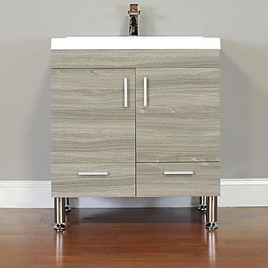 Alya Bath Ripley 30'' Single Modern Bathroom Vanity Set; Gray