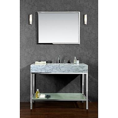 Ariel Bath Brightwater 48'' Single Bathroom Vanity Set w/ Mirror
