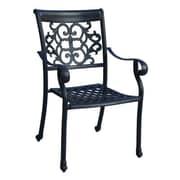 Paragon Casual Edina Dining Arm Chair; Textured Black