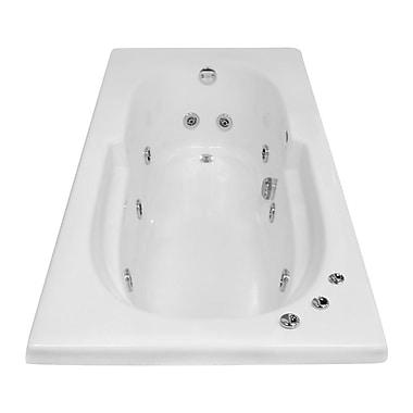 Carver Tubs Hygienic Aqua Massage 60'' x 32'' Whirlpool Bathtub; Left
