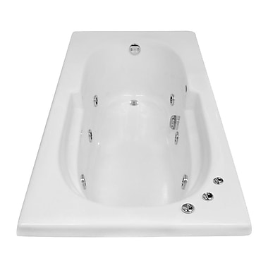 Carver Tubs Hygienic Aqua Massage 60'' x 32'' Whirlpool Bathtub; Right