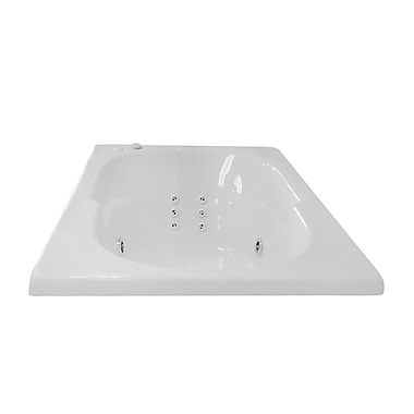 Carver Tubs Hygienic Aqua Massage 60'' x 36'' Whirlpool Bathtub; Left