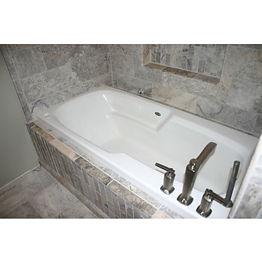 Carver Tubs Hygienic Air Tub 65'' x 32'' Bathtub; Right