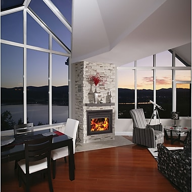 Supreme Fireplaces Inc. Galaxy Fireplace Insert; Charcoal