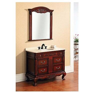 Dawn USA Traditional 39.25'' Single Vanity Set with Mirror